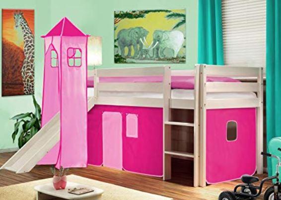 Letto A Castello Principesse.Letto A Castello Con Scivolo Rosa Per Bambine Prezzo E Modello