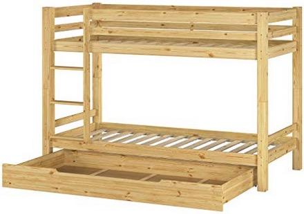 Letto a castello legno con contenitore cassettone bambini ragazzi