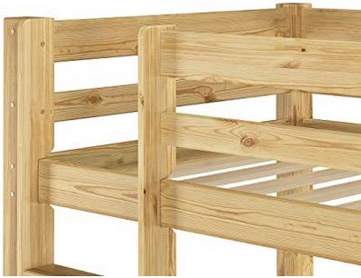 Letto a castello legno con contenitore cassettone misure dimensioni