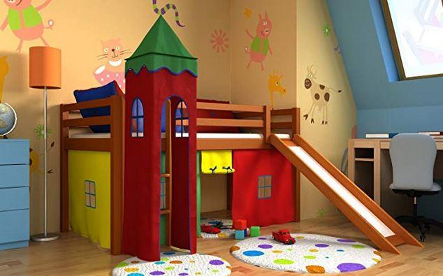 letto a castello con scivolo bambini colori modelli