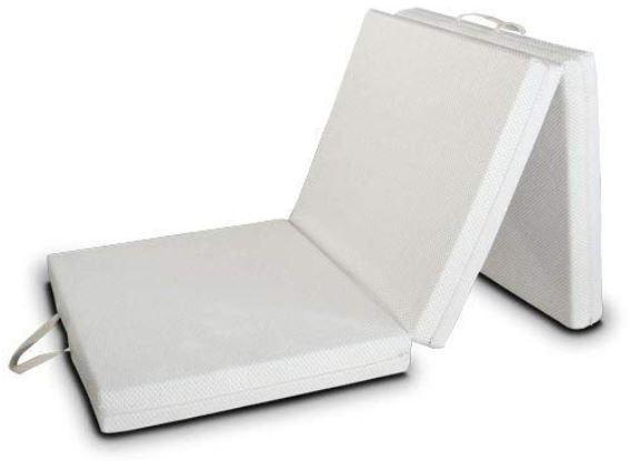 Materasso futon pieghevole in sezioni trasportabile